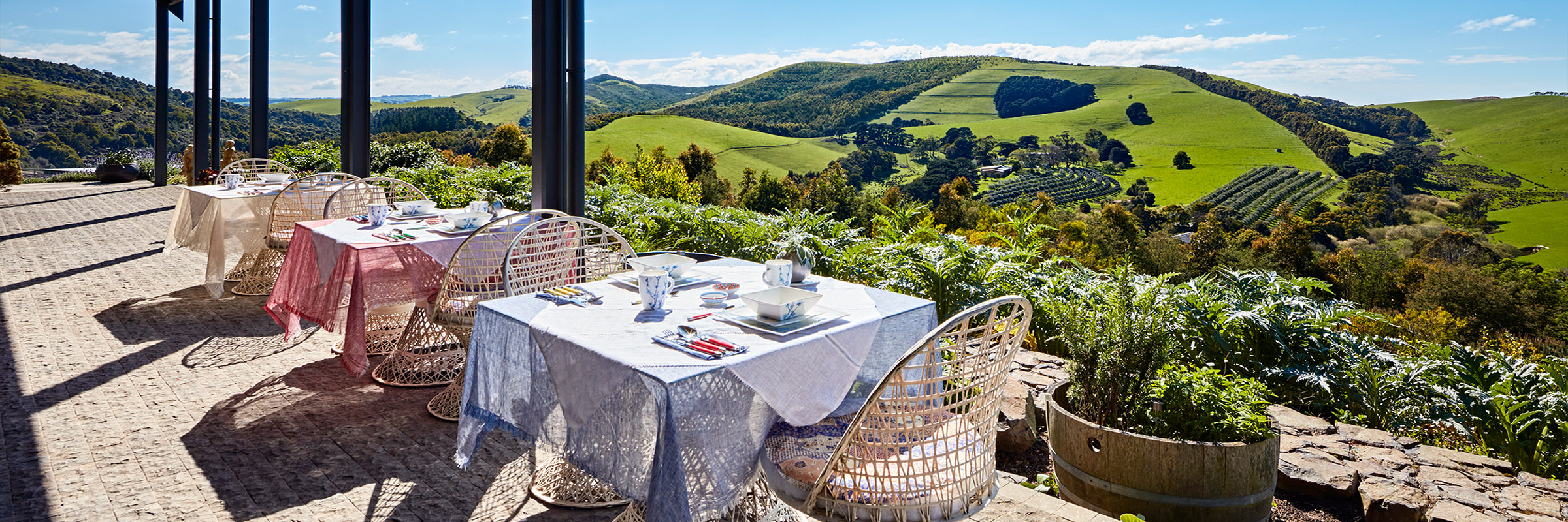 enjoy the view from the veranda at breakfast